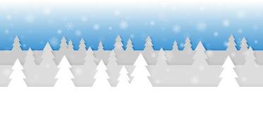 与snowflakeSimple无缝的纸的简单的无缝的纸裁减冬天传染媒介风景削减了冬天与雪花的传染媒介风景 免版税库存照片