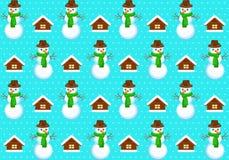 与snowmans的样式 免版税库存图片