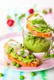 与sping的菜的Crostini 免版税库存图片