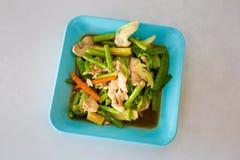 与stirfry的菜的泰国鸡 库存照片