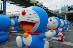 与Takecopter的Doraemon形象 库存照片