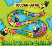 与toucan鸟的Boardgame模板在公园 库存例证