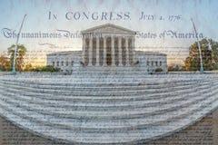 与U S最高法院大厦的大角度图,华盛顿 库存照片
