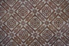 与unicolorous棕色装饰品的Azulejos 免版税库存图片