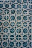 与unicolorous蓝色装饰品的Azulejos 免版税库存照片