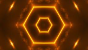 与VJ万花筒分数维的金子的抽象背景 回报数字式背景的3d 向量例证
