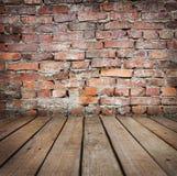 与wal的砖的工作室背景 库存图片