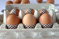 与washi磁带的装饰的复活节彩蛋 免版税库存图片