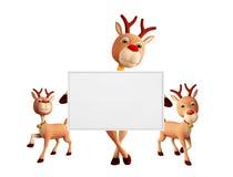 与whiteboard的驯鹿 免版税库存照片