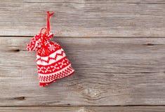 与xmas藤茎的圣诞节装饰 库存照片