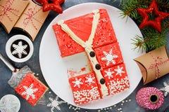 丑恶的圣诞节毛线衣蛋糕,寒假党的食谱, 免版税库存照片