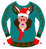 丑恶的圣诞节毛线衣 库存照片
