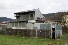 丑恶的棚子和简陋小木屋 免版税库存照片