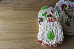 丑恶的毛线衣圣诞节曲奇饼 免版税图库摄影
