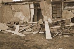专业乌克兰爱国者自毁和掠夺的小企业 图库摄影