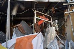 专业乌克兰爱国者自毁和掠夺的小企业 免版税库存照片