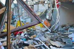 专业乌克兰爱国者自毁和掠夺的小企业 库存图片