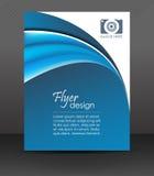 专业企业飞行物模板或公司横幅,盖子设计 免版税库存图片