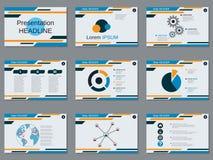 专业企业介绍,幻灯片放映传染媒介模板 免版税库存图片