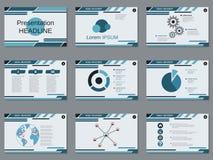 专业企业介绍,幻灯片放映传染媒介模板 免版税库存照片
