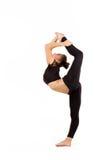 年轻专业体操运动员妇女 库存照片