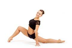 年轻专业体操运动员妇女 库存图片