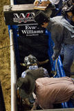 专业公牛骑马竞争 库存图片
