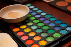 专业化妆师化妆用品集 免版税库存照片