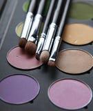 专业化妆用品,有眼影膏的调色板, 库存图片