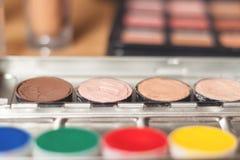 专业化妆用品 免版税库存照片