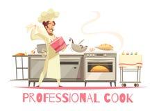 专业厨师构成 免版税库存图片