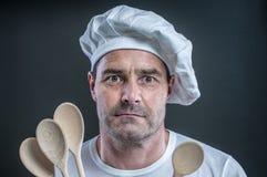 专业厨师 免版税库存照片