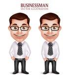专业商人字符愉快微笑 免版税库存图片