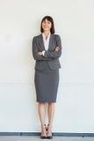 专业女商人充分的身体画象  免版税库存图片