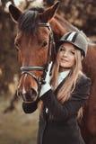 专业女骑士, equestrienne 库存照片