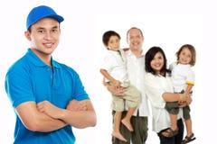 专业家庭移动的服务 免版税图库摄影