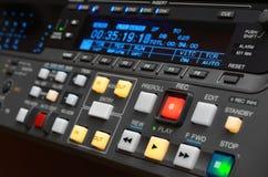 专业录影机。 控制面板 免版税库存照片