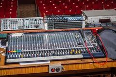专业控制台声音混合 库存照片