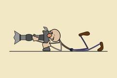专业摄影师拍一张好照片 免版税库存图片