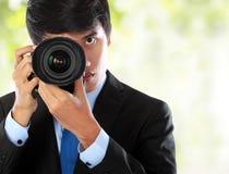 专业摄影师 免版税库存图片
