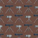 专业无缝的样式望远镜玻璃神色看见小望远镜光学设备照相机数字式焦点光学设备 库存图片