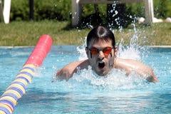 专业游泳 免版税库存图片