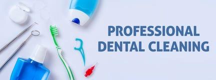 专业牙齿清洁 库存照片
