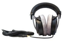 专业的耳机 免版税库存图片