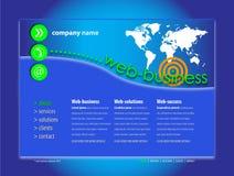 专业网站模板 免版税库存照片