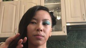 专业美发师和化妆师 股票视频