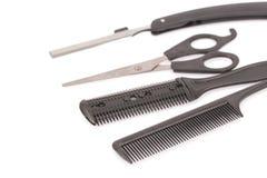 专业美发师工具 免版税库存图片