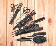 专业美发师工具 免版税库存照片