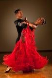 专业舞厅舞夫妇预先形成陈列舞蹈 免版税库存照片