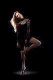 专业芭蕾女性舞蹈家 免版税库存图片